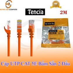 Cáp mạng 2m UTP CAT 5E Tencia High Speed cam hai đầu bấm sẵn
