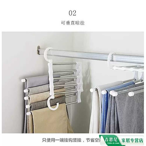 Móc treo quần áo hai tầng tiết kiệm diện tích
