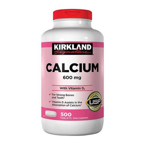 Thực phẩm chức năng viên uống bổ sung canxi kirkland calcium 600mg + d3 ,hộp 500
