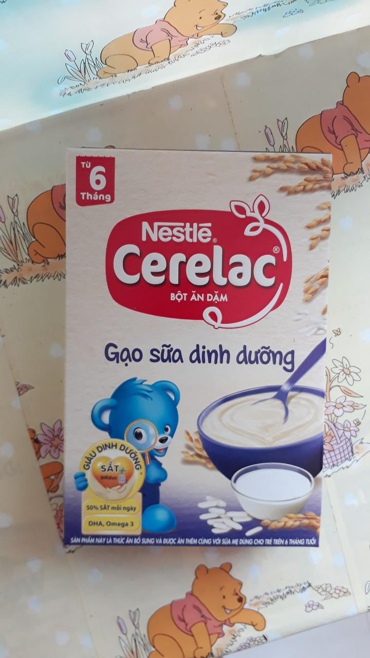 Bột ăn dặm nestle cerelac - gạo sữa dinh dưỡng 200g