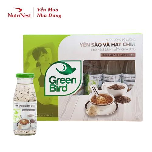 Hộp quà green bird - nước uống bổ dưỡng yến sào và hạt chia - 6 chai x 185ml - 17724878 , 22099603 , 15_22099603 , 198000 , Hop-qua-green-bird-nuoc-uong-bo-duong-yen-sao-va-hat-chia-6-chai-x-185ml-15_22099603 , sendo.vn , Hộp quà green bird - nước uống bổ dưỡng yến sào và hạt chia - 6 chai x 185ml