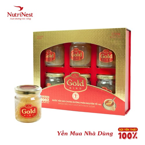 Hộp quà gold bird - nước yến sào nguyên tổ chưng đường phèn - 6 hũx190g - 17725110 , 22099882 , 15_22099882 , 2990000 , Hop-qua-gold-bird-nuoc-yen-sao-nguyen-to-chung-duong-phen-6-hux190g-15_22099882 , sendo.vn , Hộp quà gold bird - nước yến sào nguyên tổ chưng đường phèn - 6 hũx190g