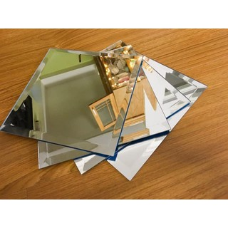 Set 16 miếng gương dẻo dán tường - Mỗi miếng 15cmx15cm - gggg thumbnail