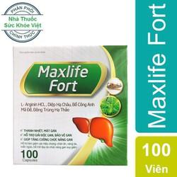 Maxlife Fort - Hỗ trợ điều trị viêm gan, gan nhiễm mỡ, xơ gan, men gan cao, người bị vàng da, dị ứng, mẩn ngứa, chán ăn do chức năng gan suy giảm