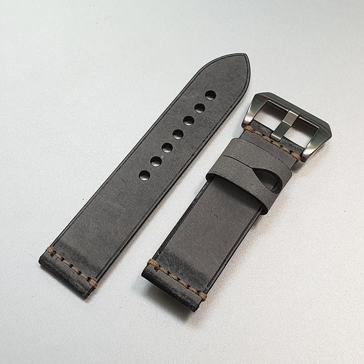 Dây da đồng hồ nam, da bò phong cách cá tính size 22mm và 24mm - D1918 - D1918 11
