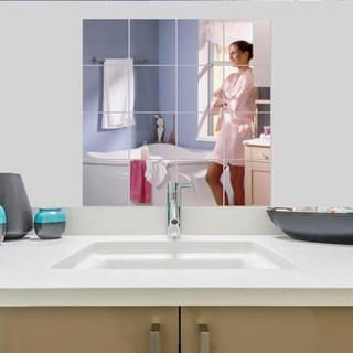 Set 16 miếng gương dẻo dán tường - Mỗi miếng 15cmx15cm - ggg thumbnail