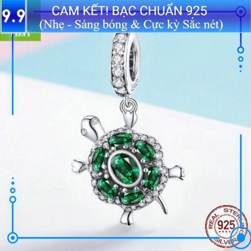 Pan charm bạc s925 rùa may mắn pa067