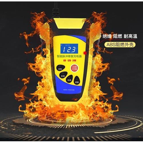 Sạc bình ắc quy thông minh tự ngắt khi đầy 3 cấp độ 6v 12v 24v có quạt tản nhiệt, sạc bình ắc quy, sạc bình ắc quy 12v,máy sạc bình ắc quy - car13