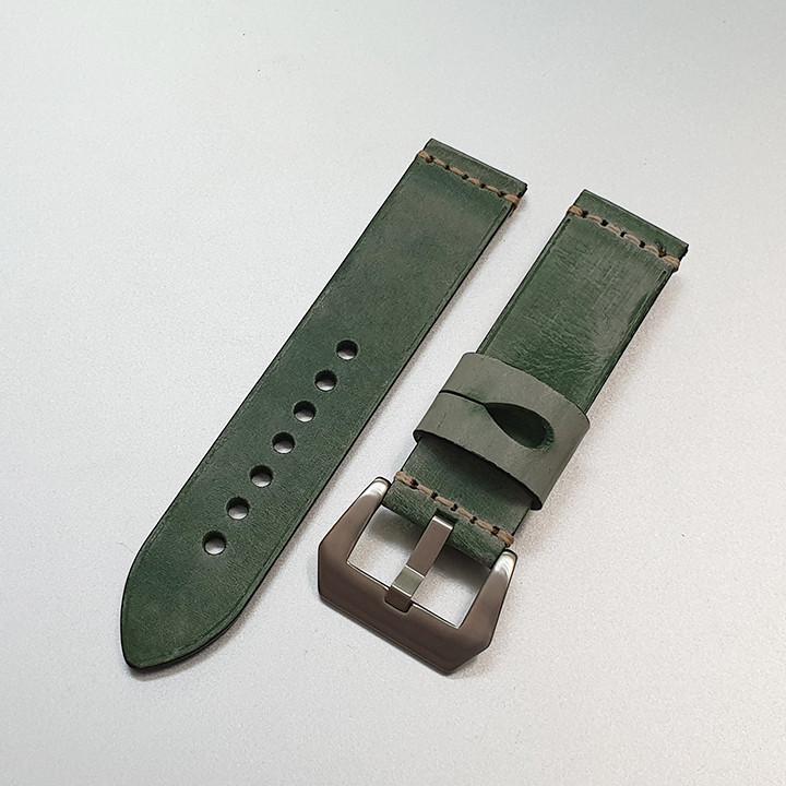 Dây da đồng hồ nam, da bò phong cách cá tính size 22mm và 24mm - D1918 - D1918 12