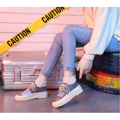 Trang nữ phối màu sắc thể thao các nền tảng nêm thoáng khí mát giày mv-381