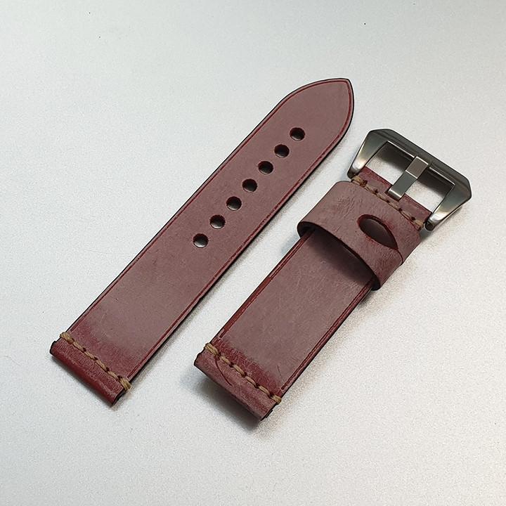 Dây da đồng hồ nam, da bò phong cách cá tính size 22mm và 24mm - D1918 - D1918 8