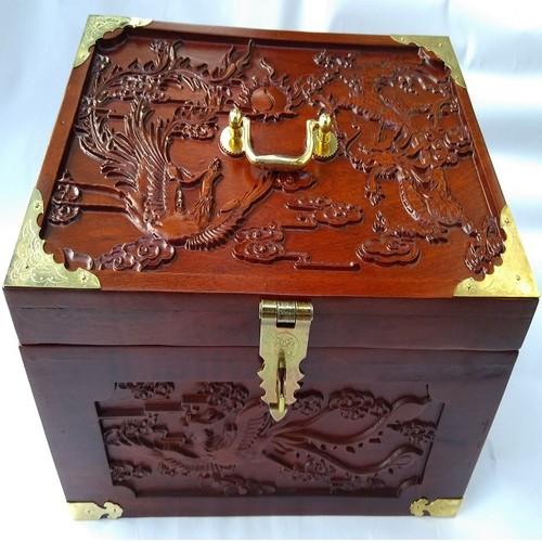 Hộp đựng nữ trang, tài liệu trạm khắc tứ linh
