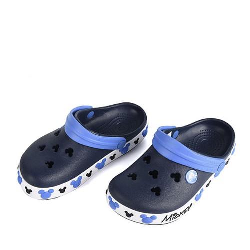 Dép sục nhựa chống hôi chân crocs. band mickey trẻ em màu xanh đen