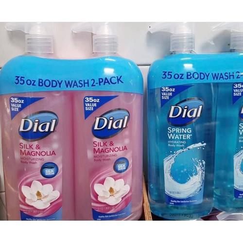 Sữa tắm dial silk magnolia body wash hồng 1030ml