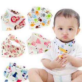 Yếm cho bé-Combo 10 yếm cotton cài nút cho bé - yếm nút