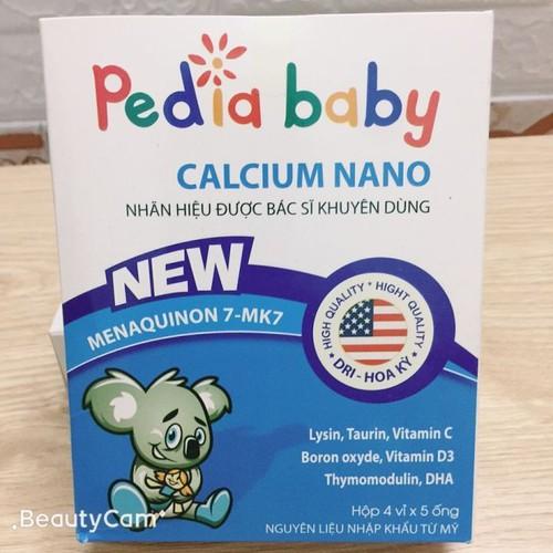 [ chính hãng] pediabay calci nano 20 ống giúp bổ sung calci nano dễ hấp thu cho trẻ còi xương chậm lớn ốm vặt và trẻ em đang trong thời kì phát triển phụ nữ có thai và cho con bú-bcx00027 - bcx00027