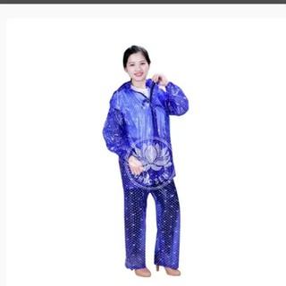 SIÊU HOT SIÊU RẺ Bộ áo mưa CHÚC SEN cực bền, không thấm nước - aomua03 thumbnail