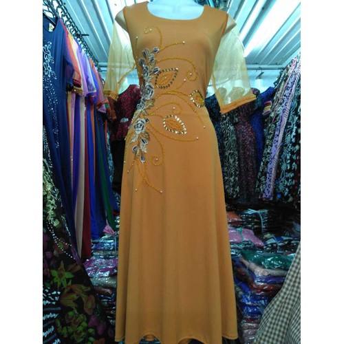 Đầm dạ hội trung niên dáng lửng