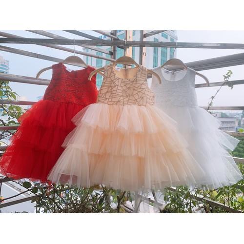 Váy công chúa 3 tầng bé gái 1-6 tuổi