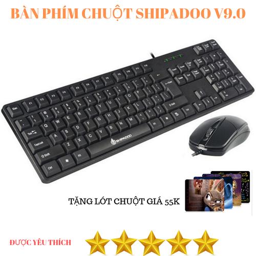 Combo bàn phím và chuột máy tính shipadoo v9.0