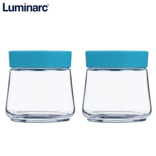 Combo 2 hũ thủy tinh luminarc swing p5279 nắp xanh 500ml