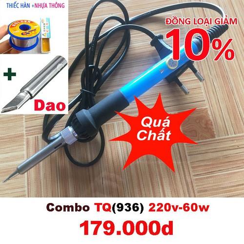 Combo mỏ hàn chỉnh nhiệt tq936 220v-60w và món phụ kiện mũi hàn dao, thiếc ok, nhựa thông - 13237610 , 21388943 , 15_21388943 , 250000 , Combo-mo-han-chinh-nhiet-tq936-220v-60w-va-mon-phu-kien-mui-han-dao-thiec-ok-nhua-thong-15_21388943 , sendo.vn , Combo mỏ hàn chỉnh nhiệt tq936 220v-60w và món phụ kiện mũi hàn dao, thiếc ok, nhựa thông