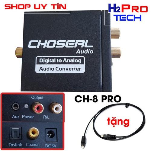 Bộ chuyển âm thanh quang optical sang av hãng choseal ch-8 pro chất lượng cao, cho ra âm thanh to, chính xác| cáp quang