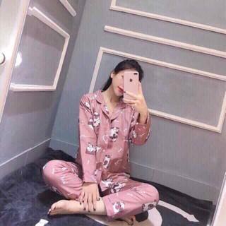 Bộ pijama tay dài quần dài chất kate thái siêu đẹp - BPJKT thumbnail