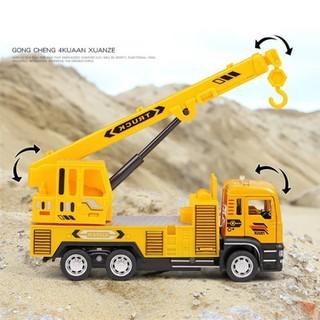 Xe mô hình - combo 4 xe mô hình xe công trình - Mô hình xe cần cẩu xe cứu hộ xe bồn và xe ben - BN78O9900 thumbnail