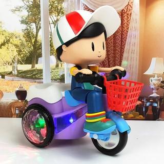 Xe đồ chơi cho bé xoay 360 độ có nhạc và đèn - Đồ chơi bé đi xe đạp phát nhạc [ĐƯỢC KIỂM HÀNG] - 21379125 thumbnail