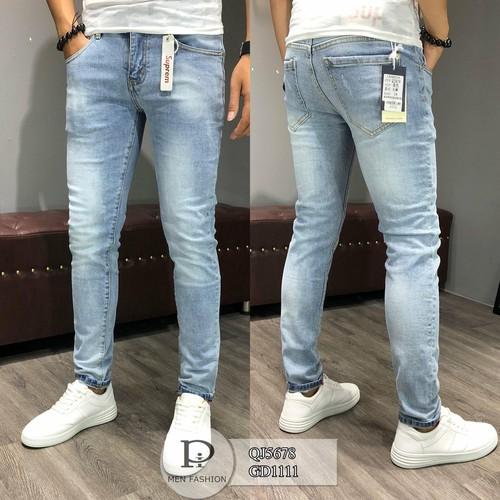Quần jeans nam skinny xanh rách