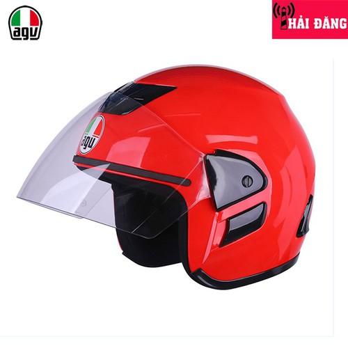 Mũ bảo hiểm 3 4 agu m01