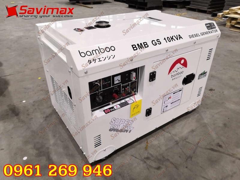 Máy phát điện BamBoo BmB GS10KVA công suất 10kva chạy dầu, 1 pha