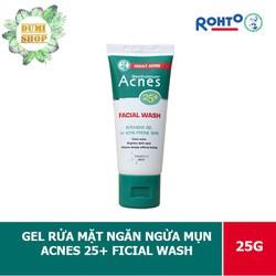 Gel rửa mặt ngăn ngừa mụn Acnes dành cho tuổi 25+ sữa rửa mặt tuýp 25g