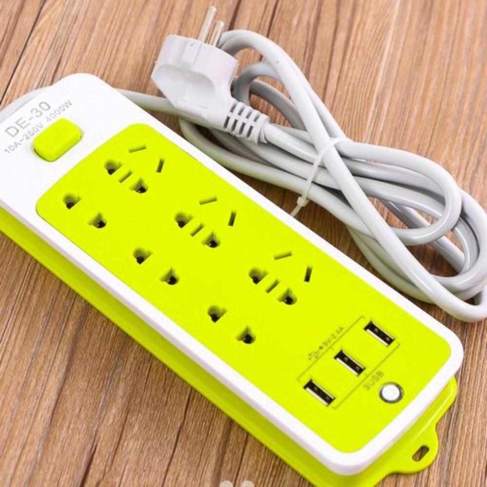 Ổ cắm điện đa năng 6 ổ cắm 3 cổng USB