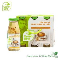Khay Green Bird - Nước Uống Bổ Dưỡng Yến Sào và Đông Trùng Hạ Thảo - 6 hũ x 185ml