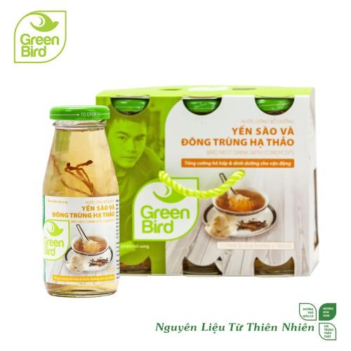 Khay green bird - nước uống bổ dưỡng yến sào và đông trùng hạ thảo - 6 hũ x 185ml - 17767530 , 22156796 , 15_22156796 , 174000 , Khay-green-bird-nuoc-uong-bo-duong-yen-sao-va-dong-trung-ha-thao-6-hu-x-185ml-15_22156796 , sendo.vn , Khay green bird - nước uống bổ dưỡng yến sào và đông trùng hạ thảo - 6 hũ x 185ml