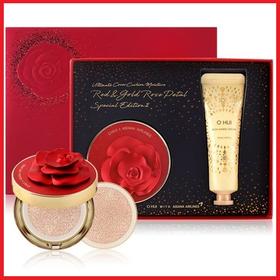 [Phiên bản giới hạn] Set phấn nước OHUI Red + Gold Rose Petal Special Edition II - Set phấn nước OHUI đỏ