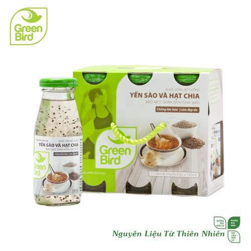 Khay green bird - nước uống bổ dưỡng yến sào và hạt chia - 6 hũx185ml - 17761061 , 22148279 , 15_22148279 , 162000 , Khay-green-bird-nuoc-uong-bo-duong-yen-sao-va-hat-chia-6-hux185ml-15_22148279 , sendo.vn , Khay green bird - nước uống bổ dưỡng yến sào và hạt chia - 6 hũx185ml