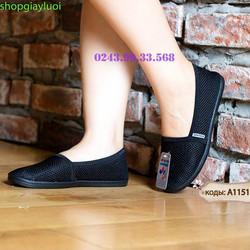 Giày nữ Giày Lười nữ Anh Khoa chất liệu sợi dệt nhập khẩu cao cấp, Giày Việt Nam xuất khẩu EU A115-1