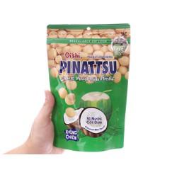 Snack nhân đậu phộng vị nước cốt dừa Pinattsu Oishi gói 100g