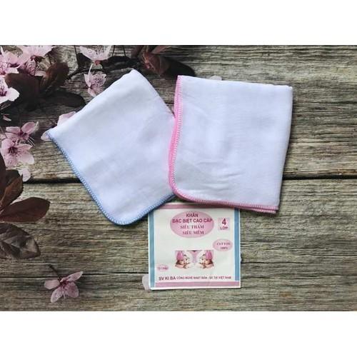 Set 10 khăn sữa kiba 4 lớp siêu mềm cho bé