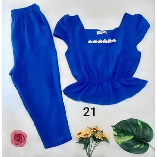 Bộ đũi Quỳnh Anh cao cấp - quần lửng có túi - size 48kg đến 68kg - 115 thumbnail