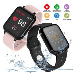 Đồng hồ b57 vòng đeo tay thông mình chống nước IP67 có màu cảm ứng theo dõi sức khỏe - ĐỒNG HỒ B57