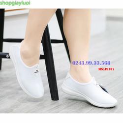 Giày nữ Giày Lười nữ Anh Khoa chất liệu sợi dệt nhập khẩu cao cấp, Giày Việt Nam xuất khẩu EU A913-7