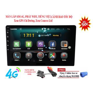 Màn Hình DVD Android Ô Tô 9in 10in Lắp Sim 4G phát wifi Tích hợp GPS dẫn đường, tặng kèm camera lùi - 9-10inAndroidWifi4G thumbnail