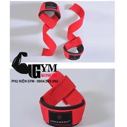 Dụng cụ thể dục thể thao - Dây kéo lưng - Lifting Straps - sản phẩm hỗ trợ tập gym màu đỏ