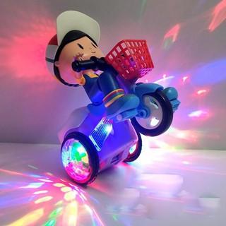 Xe đồ chơi cho bé xoay 360 độ có nhạc và đèn - Xe đồ chơi cho bé xoay 360 thumbnail