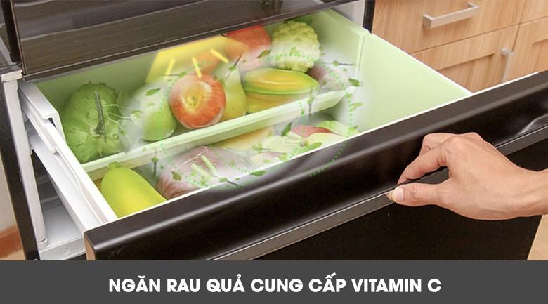 Ngăn rau quả cung cấp Vitamin C - Tủ lạnh Mitsubishi Electric Inverter 326 lít MR-CX41EJ-BRW-V
