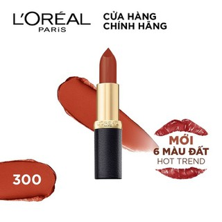 Son lì mịn môi màu đất L Oreal Paris Color Riche Matte Earth on Fire 3.7g - 6902395732112 thumbnail